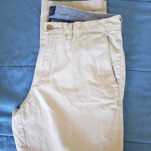 J. Crew Khaki Lightweight Fitted Pants